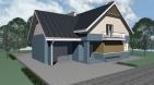 Проект одноэтажного дома с мансардой и гаражом